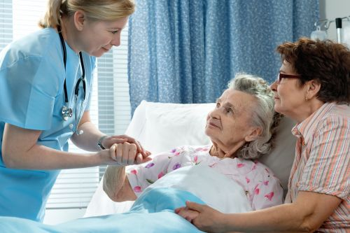 elderly woman in a hospital - Suzanne R. Fanning PLLC