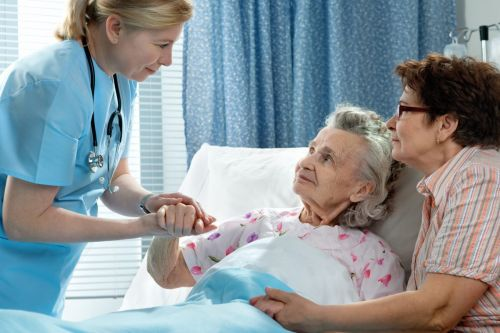 elderly woman in a hospital - guardianship concept