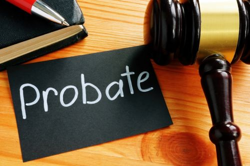 Conceptual hand written text showing probate